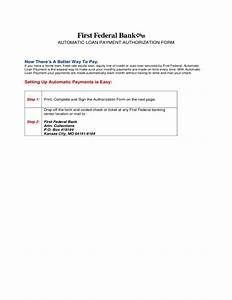 Automatic Payment Authorization Form Template Automatic Loan Payment Authorization Form Free Download