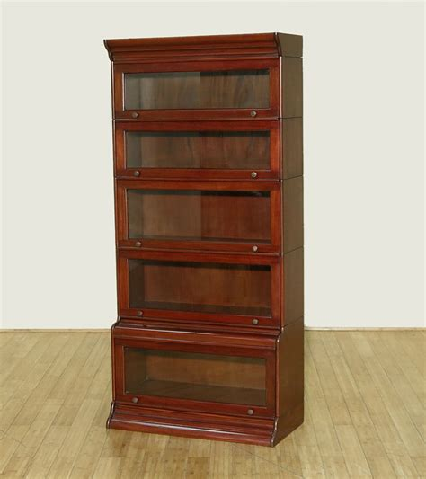 Cherry Stacking Barrister Lawyer's Office Bookcase C124