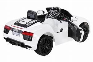 Audi R8 Enfant : voiture lectrique enfant audi r8 spyder blanche ~ Melissatoandfro.com Idées de Décoration