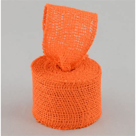 burlap ribbon orange  yards jrh
