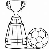Soccer Coloring Ball Cup Trophy Colouring Drawing Player Trophies Clipart Getdrawings Clip Boys Steps Clipartmag Logos sketch template
