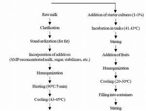 Process Flow Diagram Yogurt