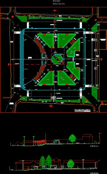 design plaza  autocad  cad   mb