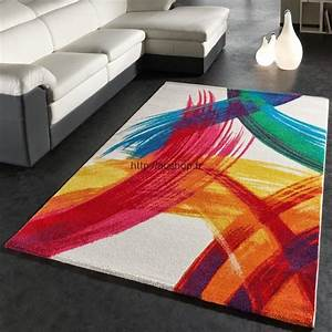 grands tapis salon pas cher tapis colores et modernes With tapis multicolore pas cher