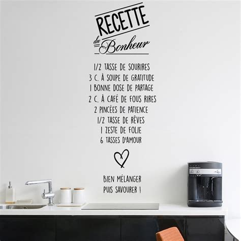 comment poser une cuisine comment poser une cuisine 11 sticker citation recette