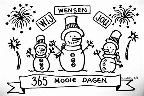 Gelukkig Nieuwjaar 2017 Kleurplaat by Gelukkig Nieuwjaar Wij Wensen Jou 365 Mooie Dagen