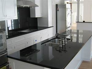 absolute black granite installed design photos and reviews With kitchen designs with white cabinets and black countertops