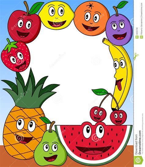Cartoon Fruit Clip Art Borders