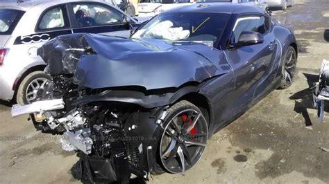wrecked  toyota supra auction  motorcom