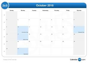 Halloween City Ann Arbor by October 2016 Calendar