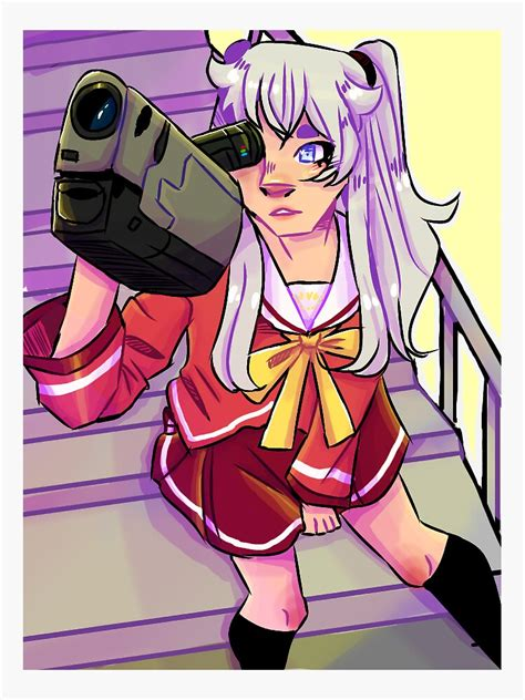 nao tomori anime sticker by poofles redbubble