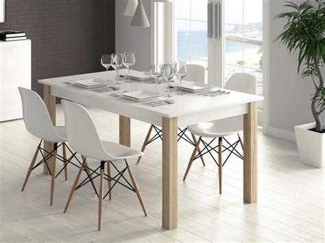mueble mesa rectangular extensible comedor madera melamina