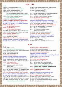 Calendar crestin ortodox luna iunie