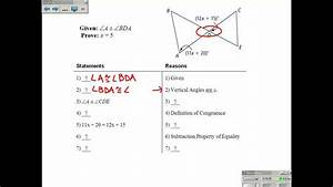 2-6 Proving Angles Are Congruent