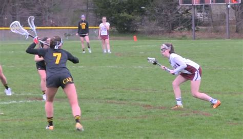 girls lacrosse greely controls ball game portland press