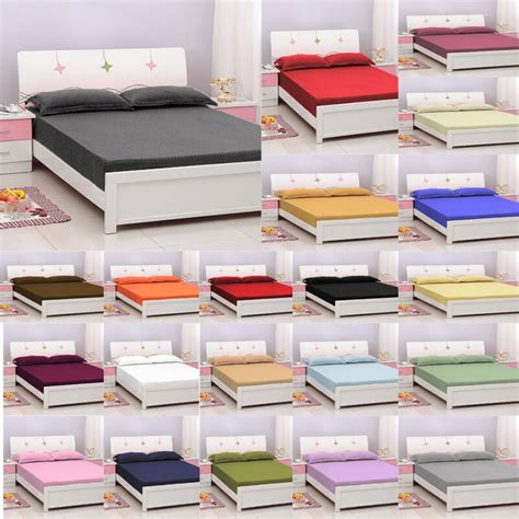 bottom sheets only cotton king fitted bottom sheet only striped with deep pocket 1000 tc ebay