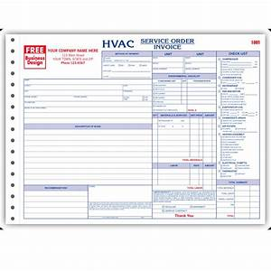hvac contractor invoice form custom form printing With hvac service order invoice forms