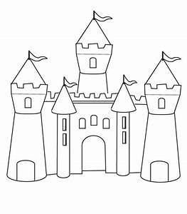 Medieval Castle, : How to Draw Medieval Castle Coloring ...