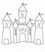 Castle Medieval Draw Simple Coloring Chateau Coloriage Ritterburg Ausmalbilder Outline Dessin Princesse Fort Jecolorie Maternelle Princess Kidsplaycolor Malvorlagen Children Inspirant sketch template