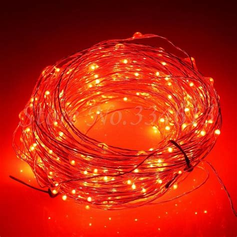 leds cool white light silver wire outdoor