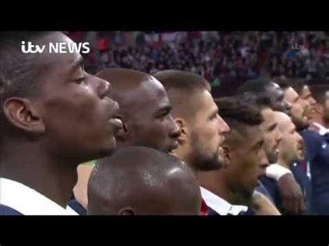 England France Players Fans Sing Marseillaise