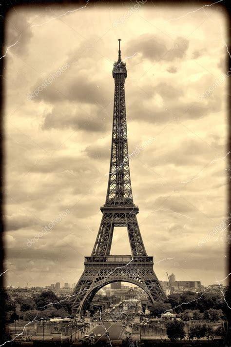 panorama eiffel tower  paris vintage view  eiffel