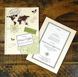 love travel wedding invitation by ditsy chic With wedding invitation sample front