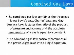 Combined Gas Law Grade 10