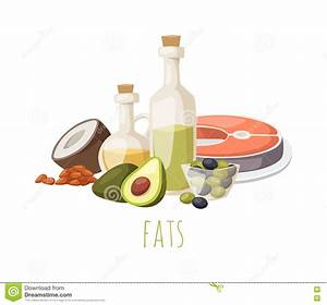 Good Fats Food Vector Illustration. Stock Vector ...