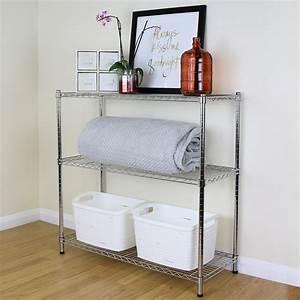 Etagere Metal Cuisine : niveau 3 m tal chrom rangement stockage tag re grille ~ Premium-room.com Idées de Décoration