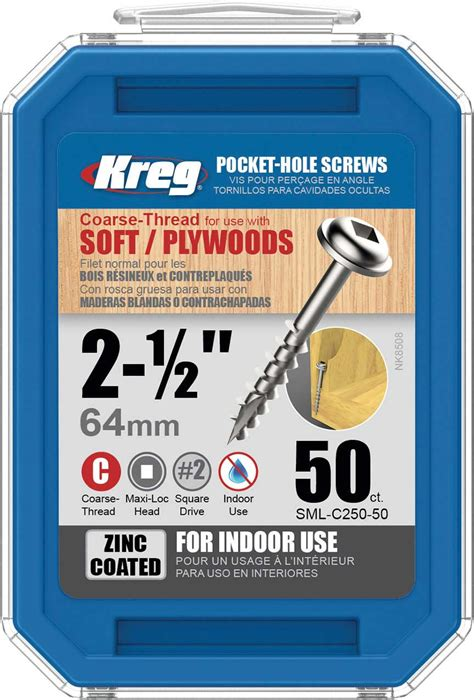 kreg pocket screws    coarse washer head ct