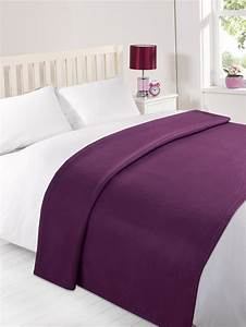 Dreamscene warm soft plain fleece throw over large for Decorative throws for beds
