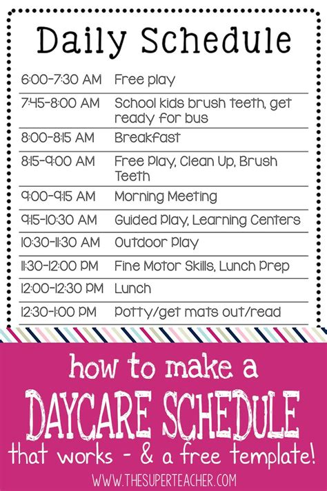 25 best daycare schedule ideas on home 299 | 6f42b0478f69e398c5fd5fbf7d4dbe53