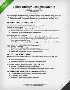 police officer resume sample writing guide resume genius With police officer resume templates free