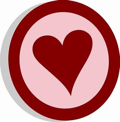 Heart Circle Symbol Clip Clipart Vote Vector
