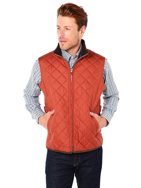 mens quilted vest millar s hudson lightweight quilted vest style