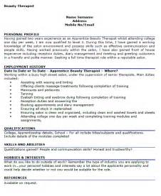 Beautician Cv Template by Cv Personal Profile Therapist Essay Contests For Eighth Graders Consultspark