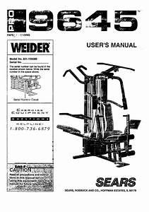 Weider Pro 9645 Workout Chart