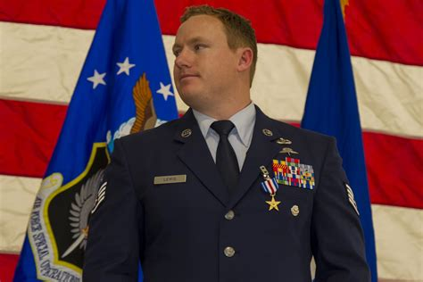 airman christopher lewis receives silver star  mosul