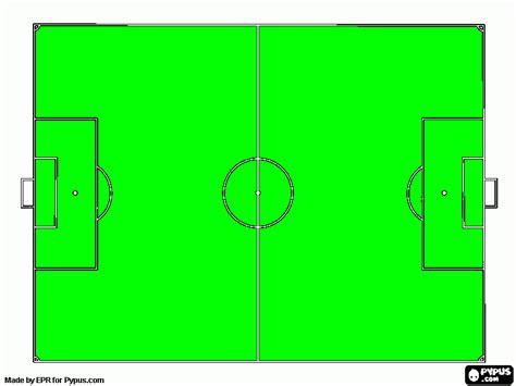 voetbalveld kleurplaat , Kleurplaten voetbalveld
