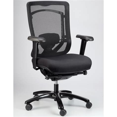 modern monterey mesh back swivel chair with fabric seat