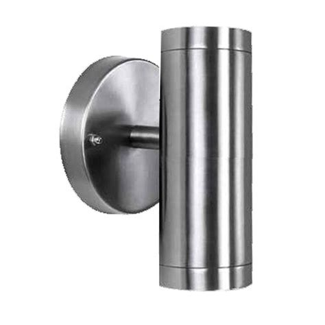 acclaim lighting 2 light stainless steel led wall sconce