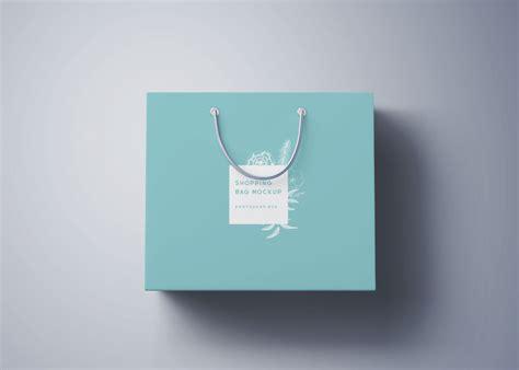 accordion door shopping bag mockup psd