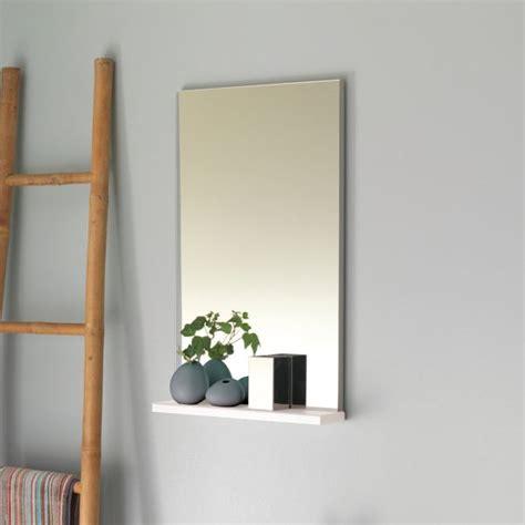 miroir salle de bain avec tablette pop sanijura laqu 233 blanc