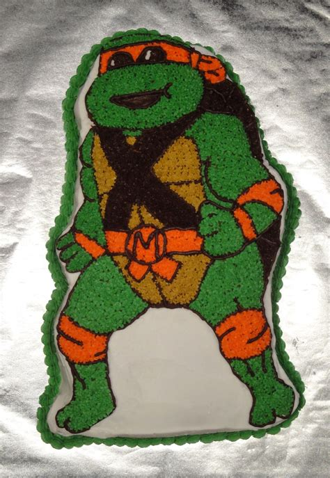 project diary teenage mutant ninja turtle cake