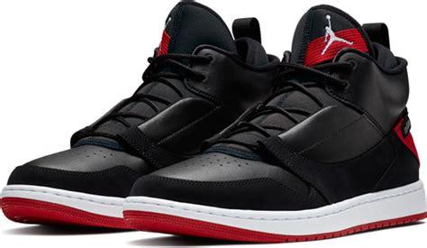 jordan fadeaway shoes black red