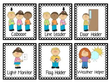preschool positions here s a set of classroom cards for use in a pocket 948