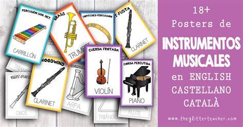 glitter teacher  posters de los instrumentos musicales imprimibles gratis