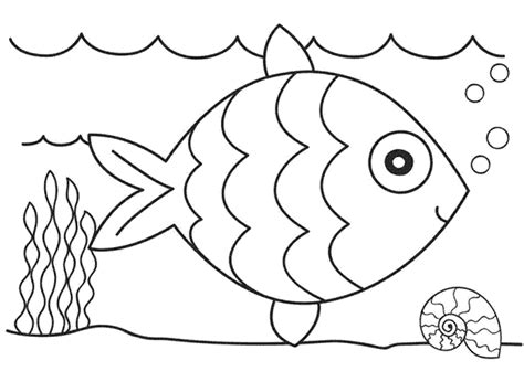 coloring pages fun fish coloring pages