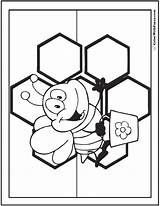 Honey Bee Coloring Comb Pages Printable Sweet Flowers Template Colorwithfuzzy sketch template